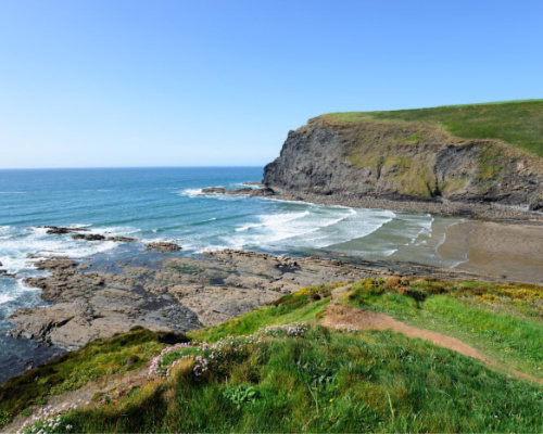 Crackington Haven Beach
